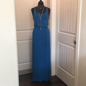 LUSH blue maxi dress with racerback